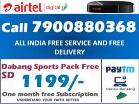 Airtel DTH Dishtv Tatasky DTH HD Connection Tv Tata sky offer @1199/-