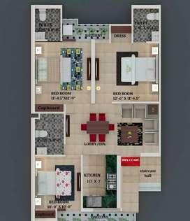 Best luxury 3 bhk floor in best rates