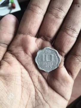 1,000rs for 1986 10 paisa coin