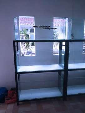 Aquarium 100x40x40 3 unit dan rak siku
