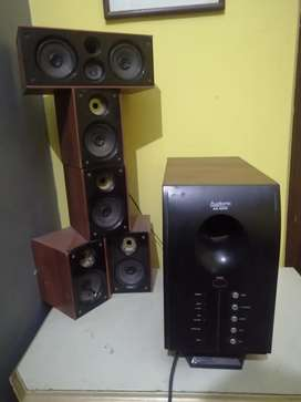 AUDIONIC AD_9600 SPEAKERS SET WITH AUX CABLE. [PRICE CAN BE REDUCE]