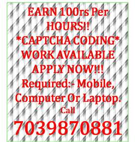 Good work and good earning for data entry.