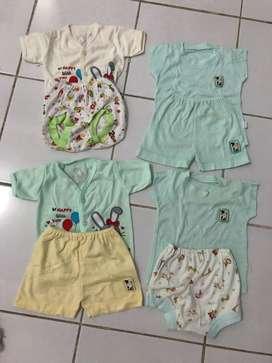 Paket baju baby murah 10 psg free 1 psg size 3-6bln