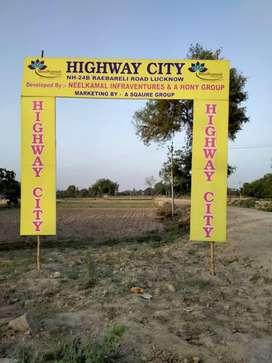 Plot on Raibarelly Main Highway in nigoha lalpur