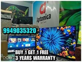 APTONICA QUANTUM SMART 4K OLEDTV BUY 1 GET 1 FREE MAKE IN INDIA