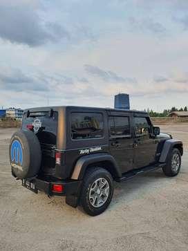 Jeep JK Wrangler Rubicon Thn2014 Km 29Ribu Pajak Bulan 4 Black/Brown