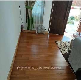 Flooring kayu solid/plafon kayu/dinding kayu/pagar kayu/decking kayu
