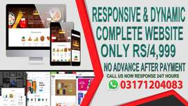 Responsive & Dynamic Or Ecommerce Complete Website Only Rs 4,999
