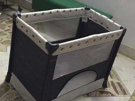 Used Play pen Cot Bed for baby with complete accessories