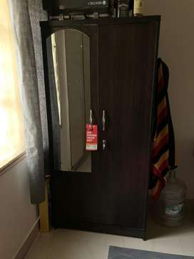 Brand new wardrobe with side mirror