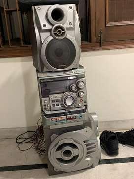 FM CD cassette and aux player