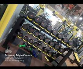new gym setup branded gym machines