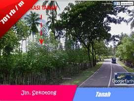 Tanah di Lokasi Wisata Sangat Ciamik Untuk Hotel, di Jln Sekotong-Ntb
