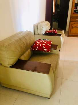 3 seater sofa with 4 seater solo sofa with table
