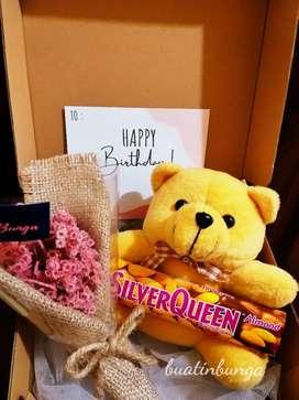 Gift set box + coklat
