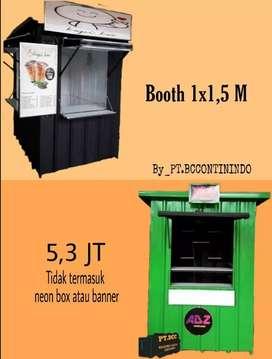 Dijual Booth semi container atau stand makanan dan minuman kekinian