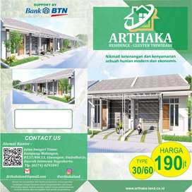 Siap Huni Rumah murah ARTHAKA RESIDENCE - Cluster Triwidadi