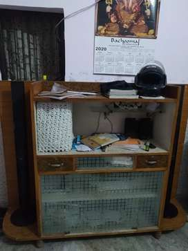 6*4 home made table for 43 inch tv& music system
