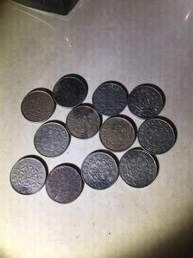 Koin 50 sen dipanegara 1952,55,57