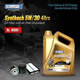 Engine Oil Imported 5w 30 4 Liters Synthetic with Free Filters