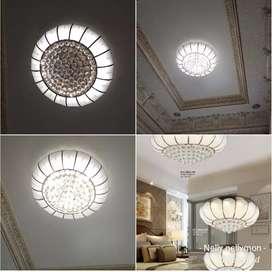 lampu plafon crystal