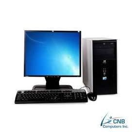 Desktop Computer With LCD Complete Set ( Refurbished) with Warranty