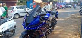 Yamaha R15 V3 with accesories