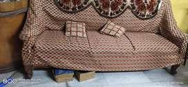 Sofa set made of solid teak wood