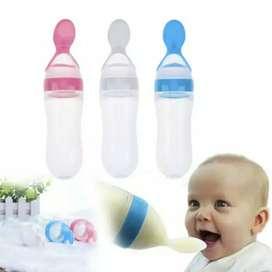 Botol Dot Silicone Sendok Makan Bayi