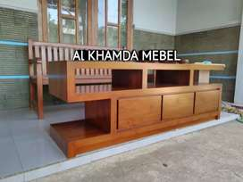 Ready Buvet Tv Minimalis Bahan Kayu Jati Monggo @499