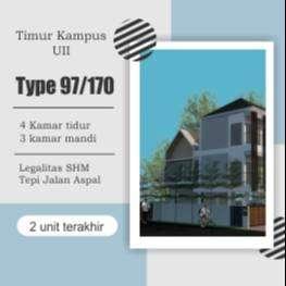 Dijual Rumah Sleman Dekat Pasar Gentan Sertifikat SHM & IMB