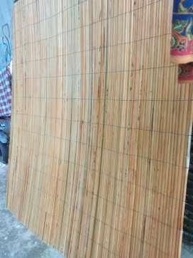 Jual tirai bambu dan kulit bambu dan tirai rotan