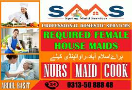 Female House Maid Job Available  Full Time 24/7
