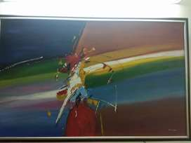 Cheap deal on large beautiful decorative painting. Moving out sale.