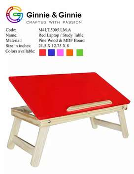 Bed table for study