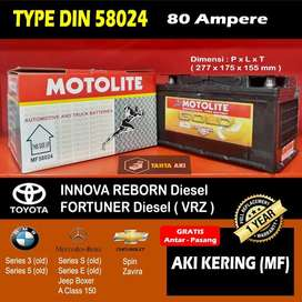 Aki Type DIN untuk Mobil Eropa, Innova Reborn & Fortuner Diesel