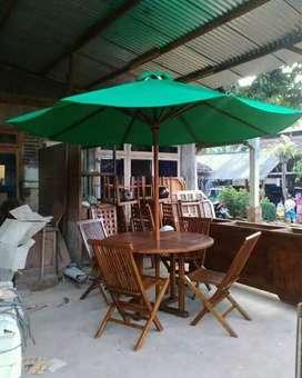Meja payung cafe,vila,resto,tempat wisata,kantin,vila,outdoor