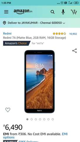 Redmi 7A  2gp 16gp black colour