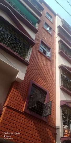 A new semi furnished flat at Baguihati chawlpatti on rent.