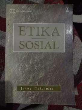 Dijual buku terbitan 1998 berjudul ETIKA SOSIAL