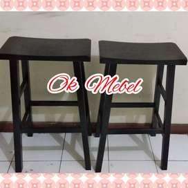 OK MEBEL Kursi KAYU 75cm Bar Kafe Cafe Resto Counter