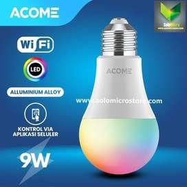 Acome Lampu Bohlam Smart WIFI LED 9W Watt RGB Garansi Resmi Acome