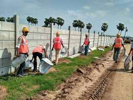 Contact Eagle Builder & Developers For Precast Concrete Boundary Wall