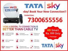 Tata Sky & Airtel Digital TV New DTH HD Box Free Installation Delivery