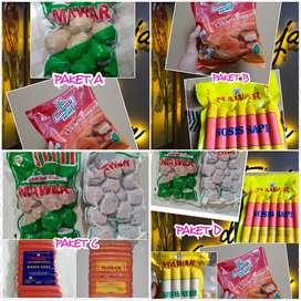 Paket Nugget dan Sosis Mawar