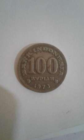 Uang koin Rp.100 thun 1973