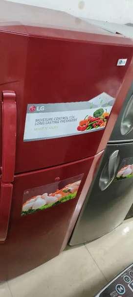 Honda red Double door fridge with 5 yrs warranty ###