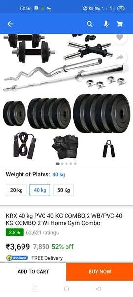 KRX 40kg PVS 40 kg combo 2 web/pvc 40 kg combo 2 home gym new