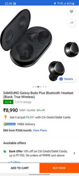 Samsung galaxy buds plus just 1month old