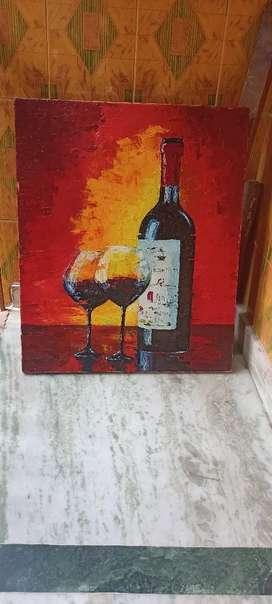 Spatula Canvas painting of wine